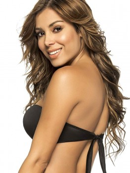 Twisted Bandeau Top Color-Mix Black van Phax Chilla