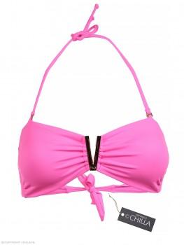 Strapless V-Bandeau Top Neon Pink van Phax Chilla