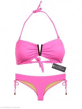 Bikini V-Bandeau Color-Mix Neon Pink 2 van Phax Chilla