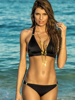 Bikini Halter Color-Mix Black van Phax Chilla