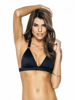 Halter Top Color-Mix Black