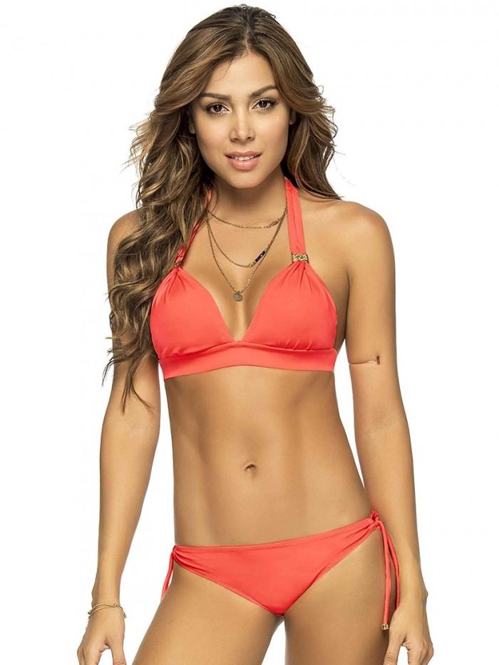 Bikini Halter Neon Oranje van Phax Chilla
