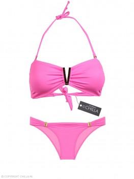 Neon Pink Bandeaubikini Gesp van Phax Chilla