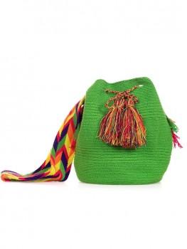 Wayuu Mochila Tas Groen