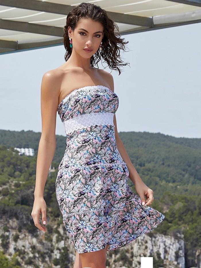 Strapless Dress Mariposa van Label Sale Chilla