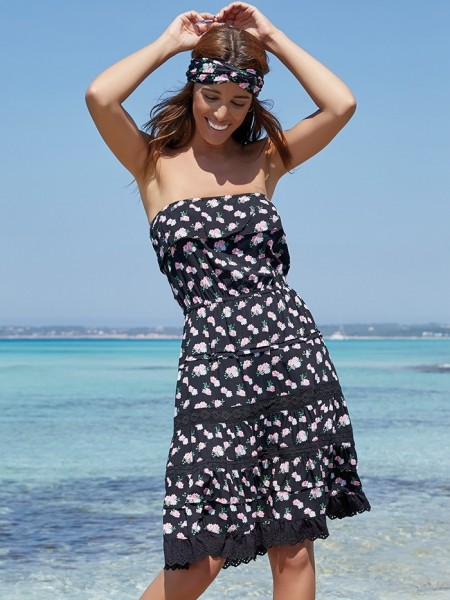 Strapless Dress Mar de Rosas