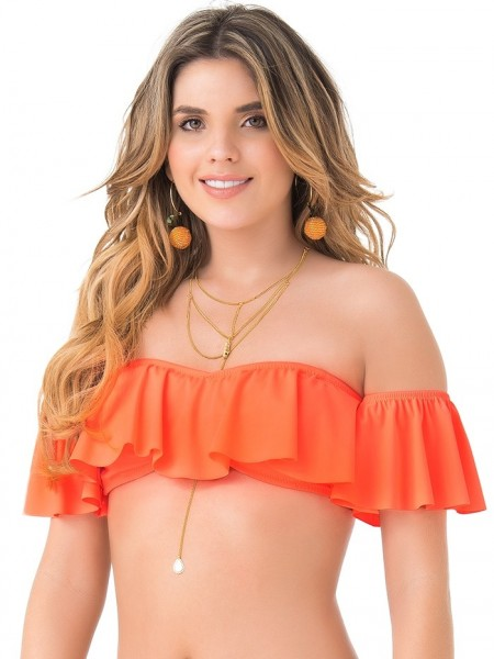 Bandeau Top Neon Oranje van Phax Chilla