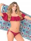 Bikini Bandeau Red Wine van Phax Chilla