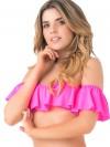 Off-Shoulder Bandeau Top Neon Pink van Phax Chilla