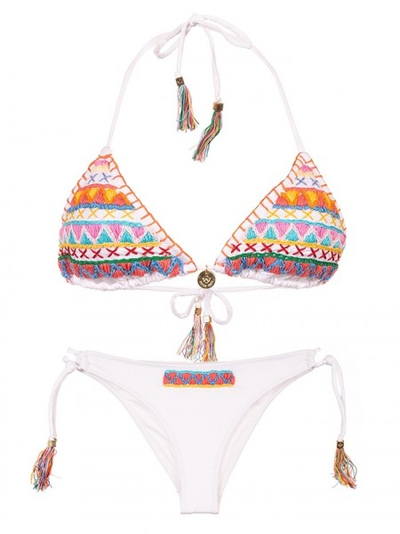 Triangle Bikini Jamaica Bordado van Swim Days Chilla