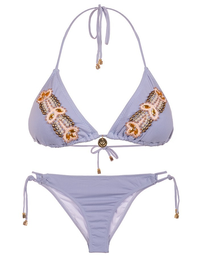 Triangle Bikini Glamour Bordado van Swim Days Chilla