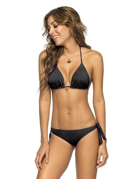 Bikini Triangle Color-Mix Black