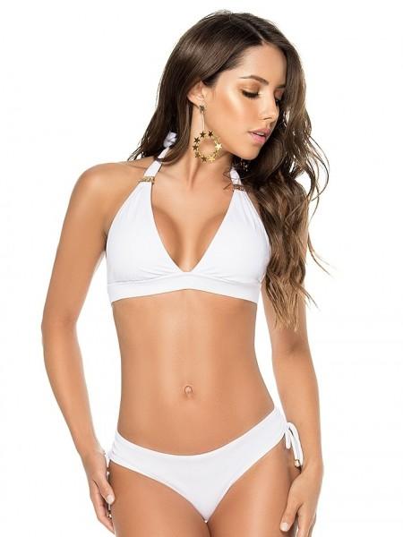 Bikini Halter Color-Mix White