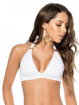 Halter Top Color-Mix White