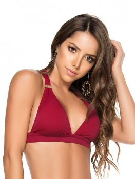 Halter Top Color-Mix Wijnrood