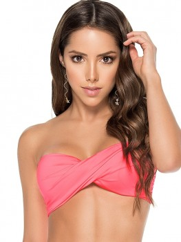 Twisted Bandeau Top Candy Pink