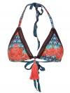Scrunchbikini Triangle Coral Abanico van April Swimwear Chilla