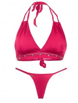 Stringbikini Halter Rojo Hilo van April Swimwear Chilla