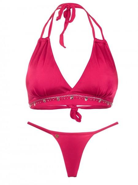 Bikini Halter Rojo Hilo