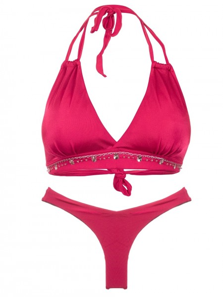 Hoogopgesneden Bikini Halter Rojo Delicioso van April Swimwear Chilla