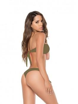 Bikini V-Bandeau Kaki Groen van Phax Chilla