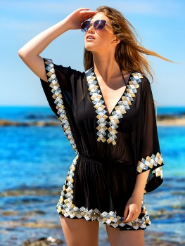 Kaftan Top Manhattan Zwart