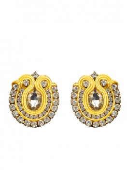 Small Yellow Statement Earrings