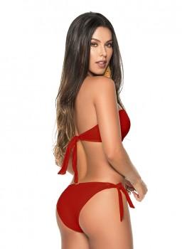 Bikini Twisted Bandeau Wijnrood van Phax Chilla