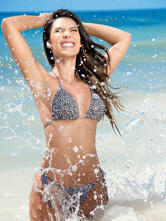 Tanning String Bikini Leopard van Phax Chilla