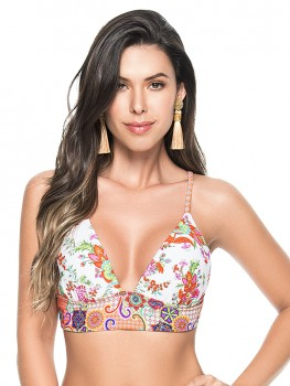 Spring Fling Triangle Top Bloemenprint
