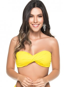 Twisted Bandeau Top Yellow