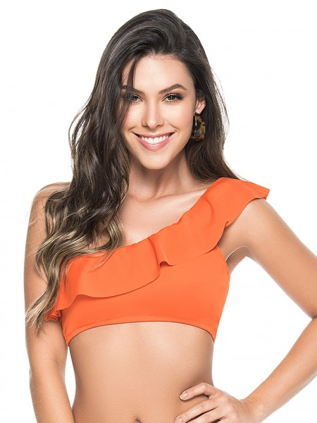 One Shoulder Top Orange