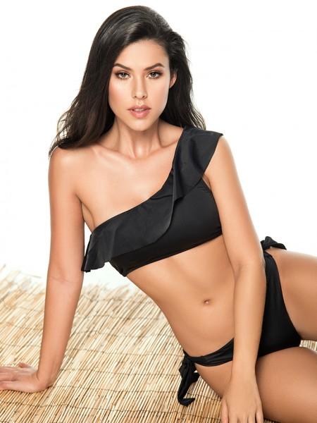 Bikini One Shoulder Black