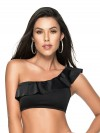 Zwarte One Shoulder Top Color-Mix van Phax Chilla