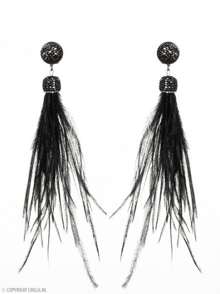 Black Feather Oorbellen van Paulie Pocket Chilla