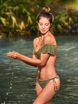 Off-Shoulder Bikini Pacific Kaki van Cosita Linda Chilla