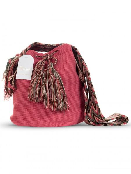 Wayuu Mochila Bag Dusky Pink