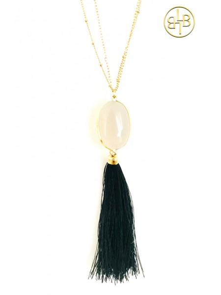 Necklace Boho Black