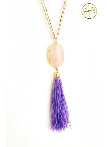 Necklace Boho Lavender
