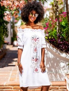 Bardot Dress Cassis