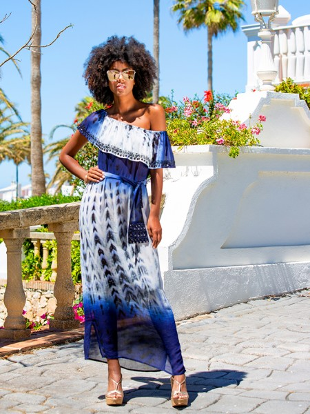 Mustique 100% Silk Maxi-Dress