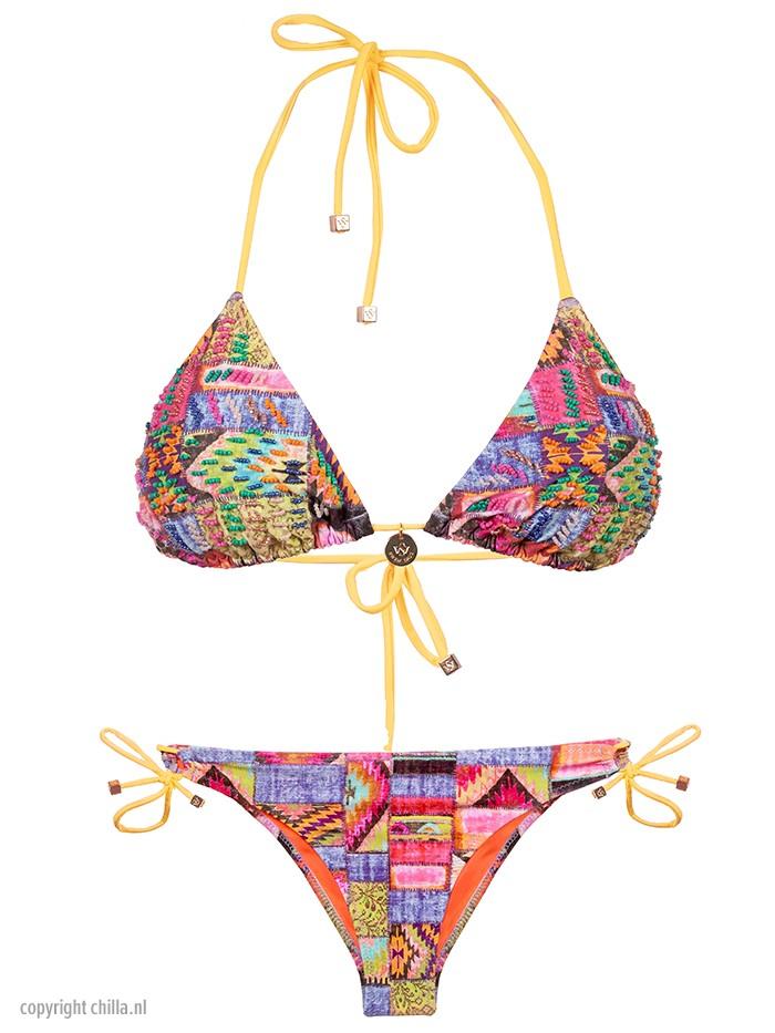 Bikini Katmandu Bordado Verde van Swim Days Chilla