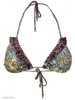 Triangle Bikini Tiger Verde van Swim Days Chilla