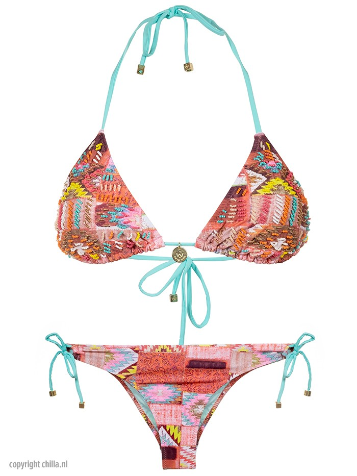 Bikini Katmandu Bordado Salmon van Swim Days Chilla