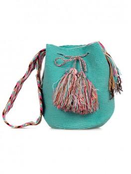 Wayuu Mochila Tas Turquoise van Wayuu Tassen Chilla