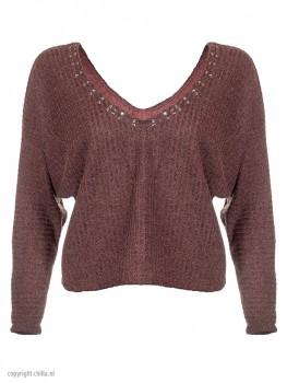 Terracotta Lurex Sweater