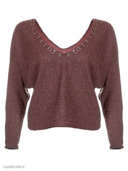 Terracotta Lurex Sweater van April Swimwear Chilla