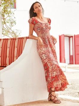 Shirley Maxi-Dress Rood