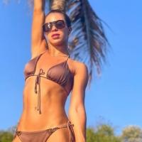 @jessitorresm looking great in the Wild Mokka bikini by @mysticalswimwear. We love it ❤️ Link in bio  #luxebikini #colombiadesigns #fun #abikiniaday #chillabikini #bikini #hot #handgemaakt #instastyle #scrunchbikini